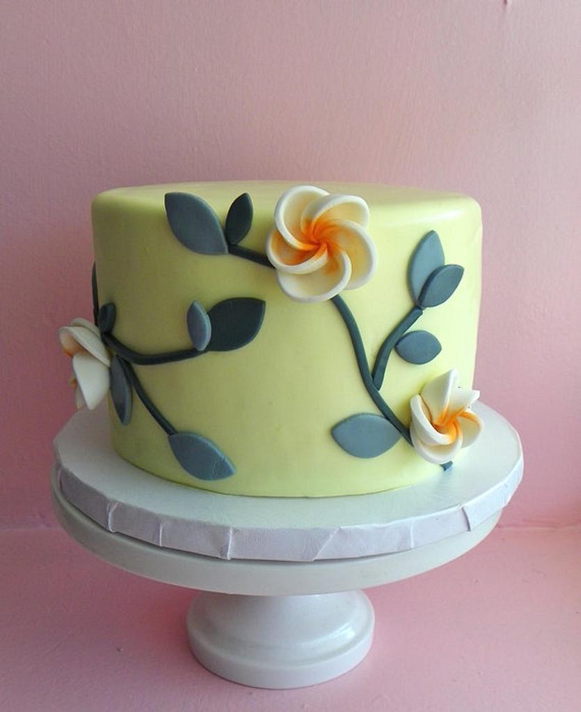 Little yellow floral cake by Erin Gardner