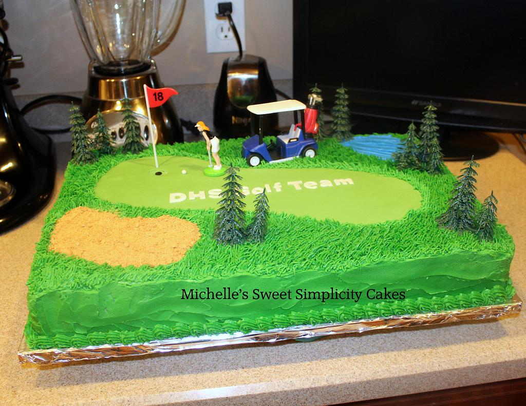 Golf Team Cake by Michelle