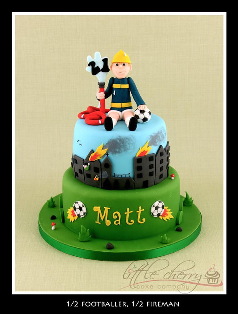1/2 footballer, 1/2 fireman! by Little Cherry