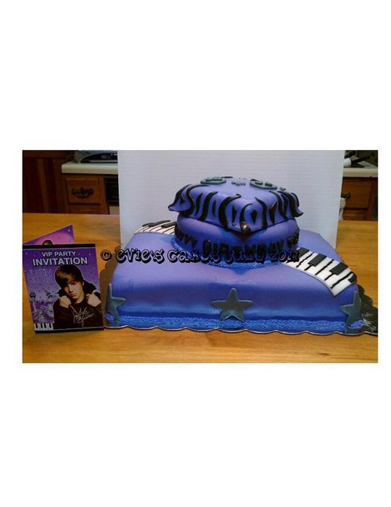 Justin Bieber cake for my niece's 10th bday by BlueFairyConfections