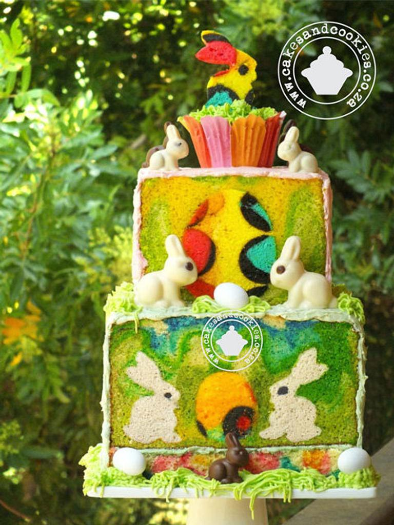 Hoppy Easter Inside My Cake by Terry