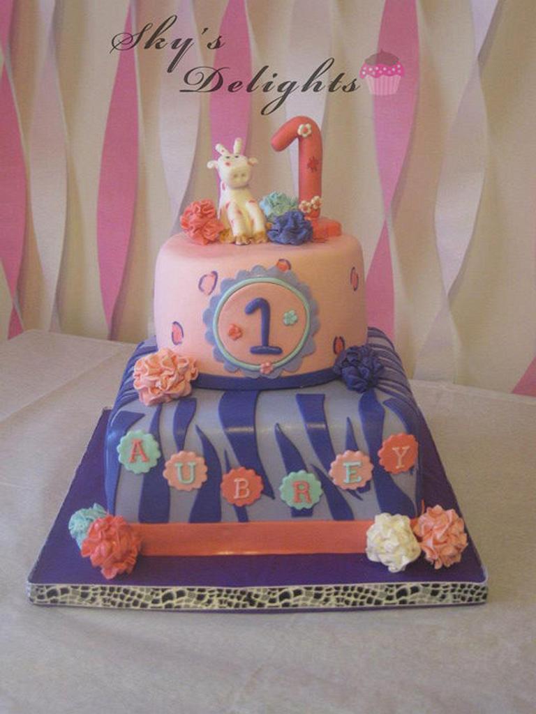 1st birthday cake by Heather