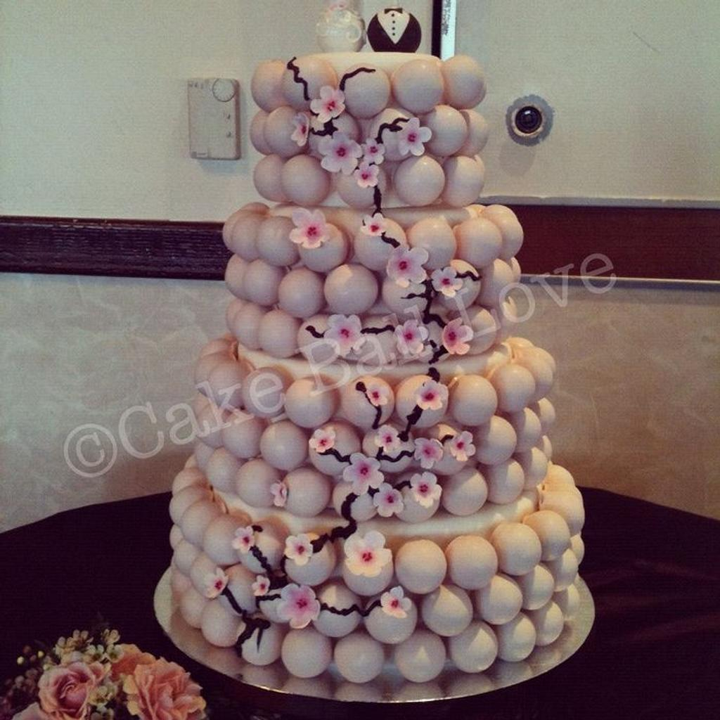 Cherry Blossom Cake Ball Cake by Pamela Genio-Bates
