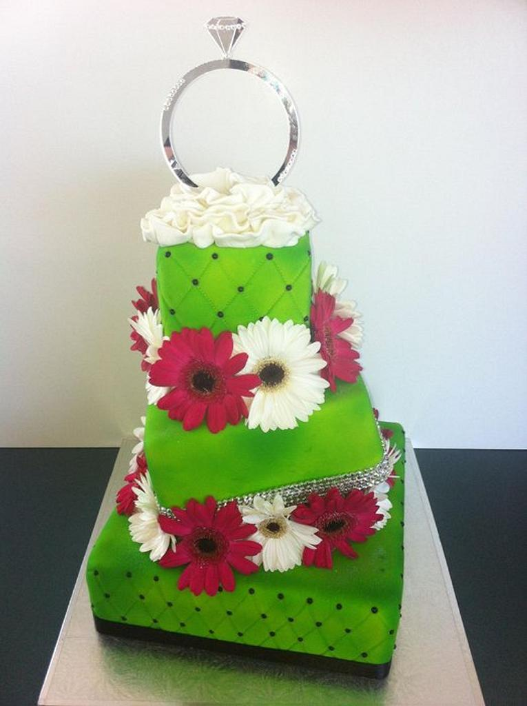 Emma's Engagement Cake by AnnettesCakes