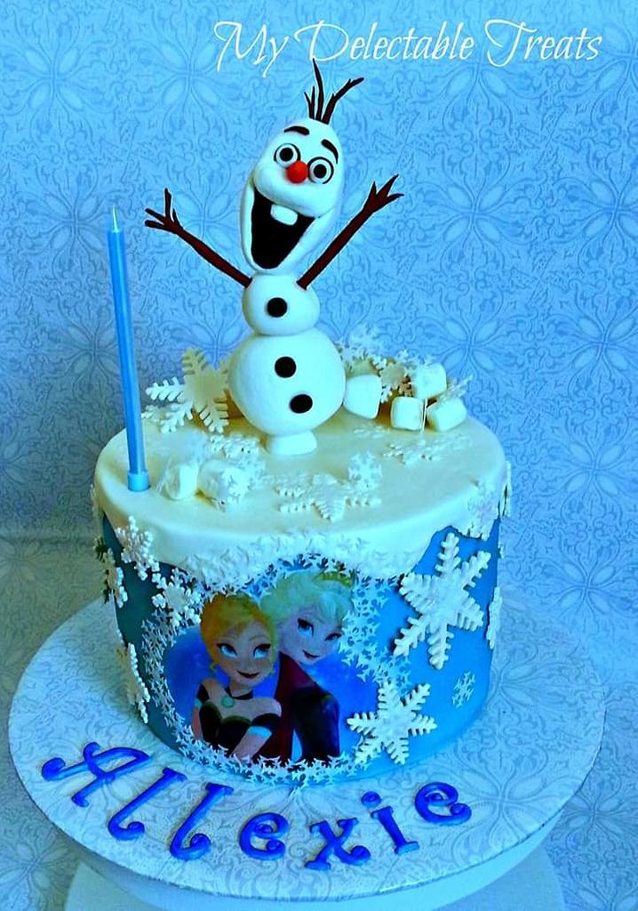 Olaf themed cake by Donna Dolendo