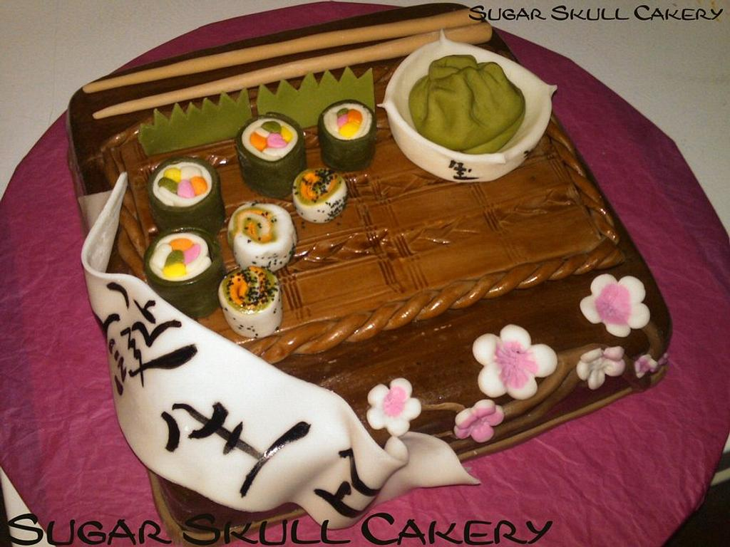 Sushi Themed Cake for my daughters birthday. by Shey Jimenez