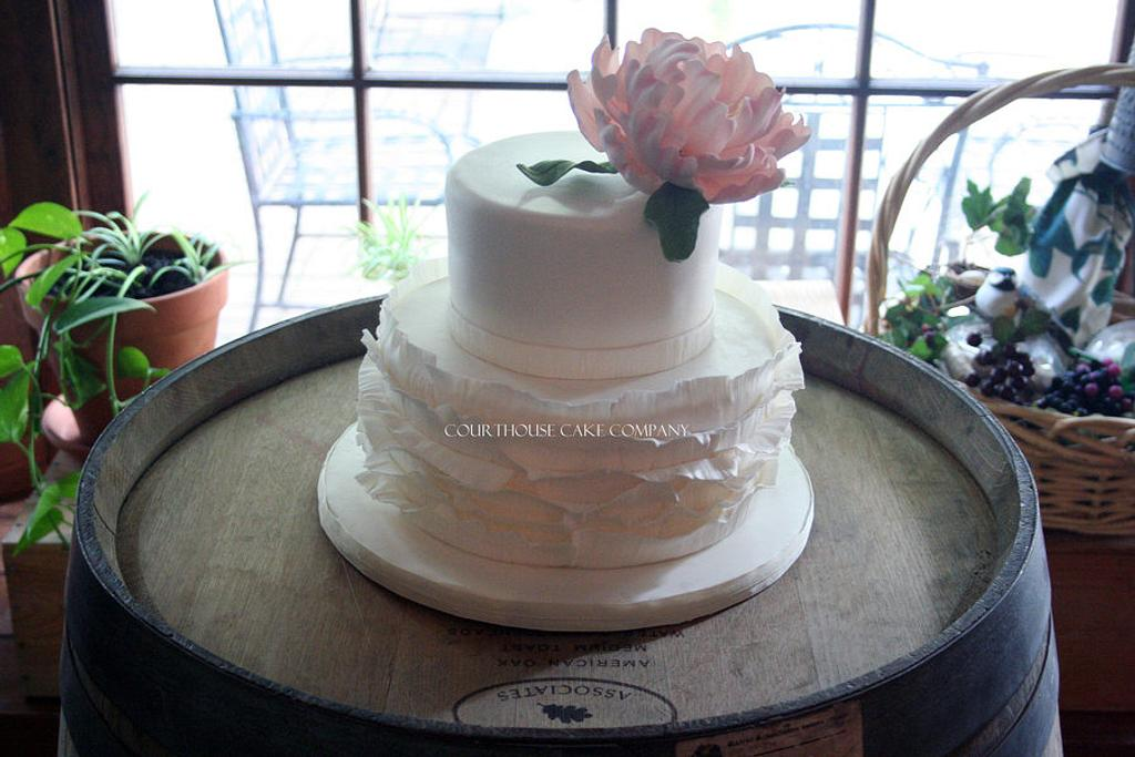 Ruffles and Peonies by CourtHouse Cake Company