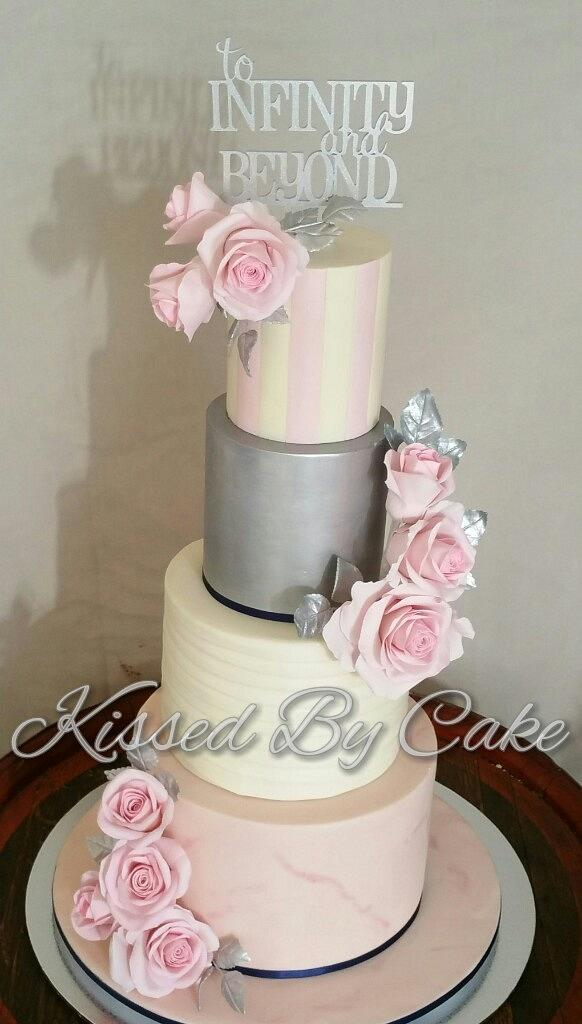 Pink wedding cake  by Shell Thompson