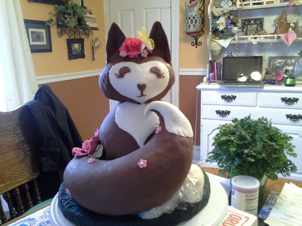 Foxy Birthday Cake by prettysweettreats
