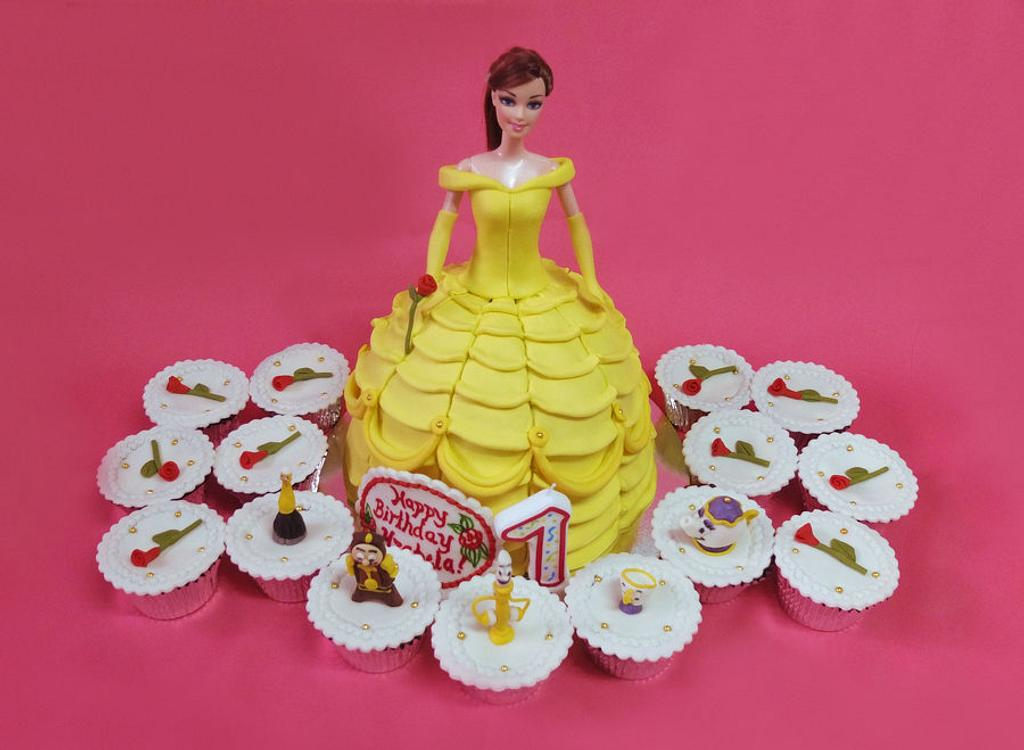 Beauty and the Beast Cake and Cupcakes by Larisse Espinueva