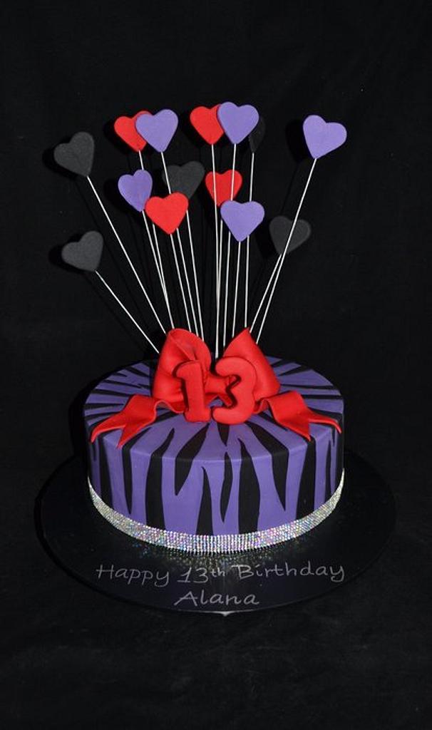 13th birthday cake by Sue Ghabach