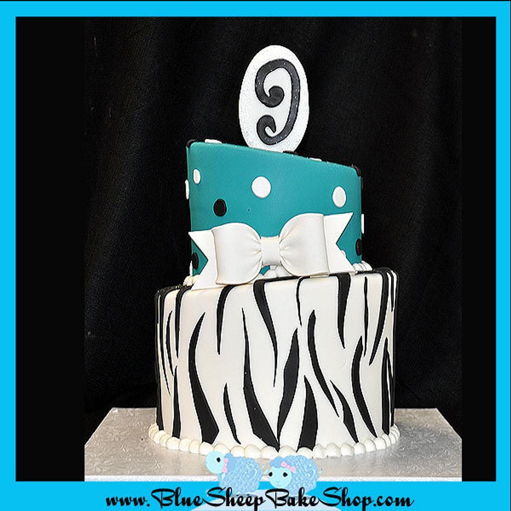 Zebra Birthday Cake by Karin Giamella