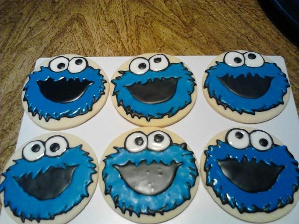 cookie monster cookies by CC's Creative Cakes and more...
