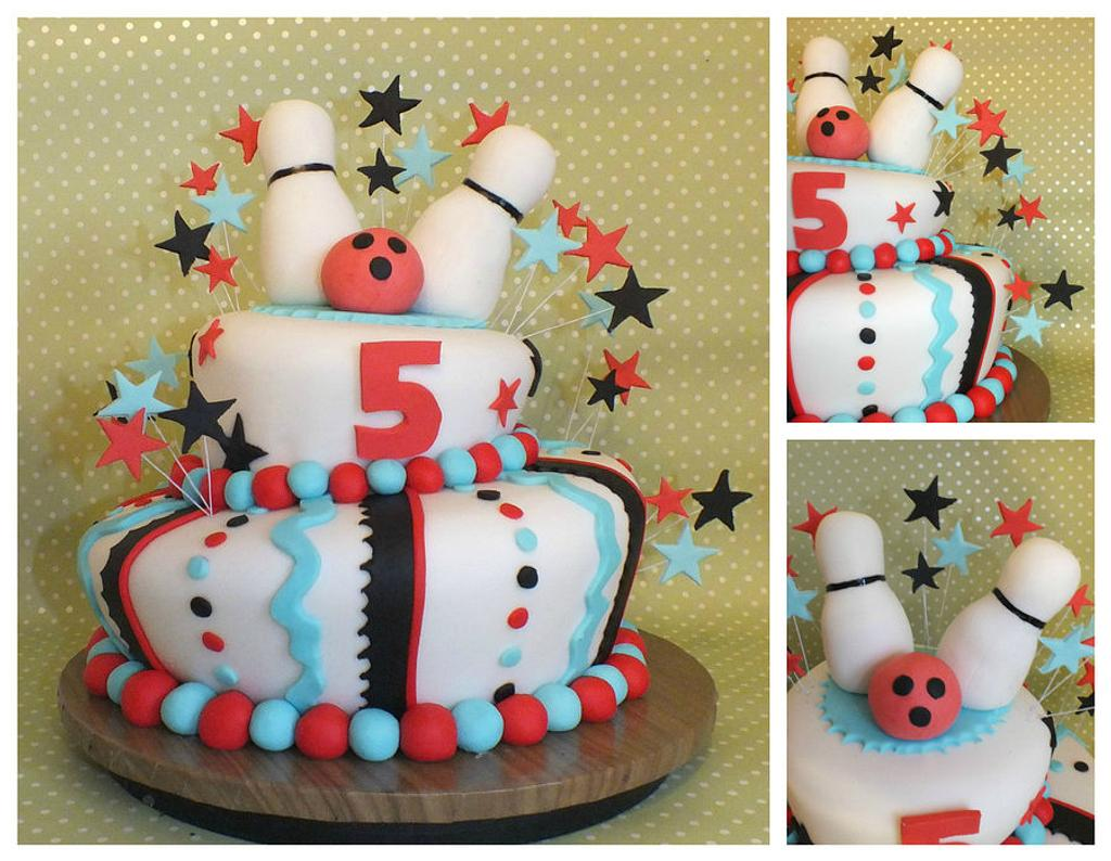 bowling wonky cake by jennie