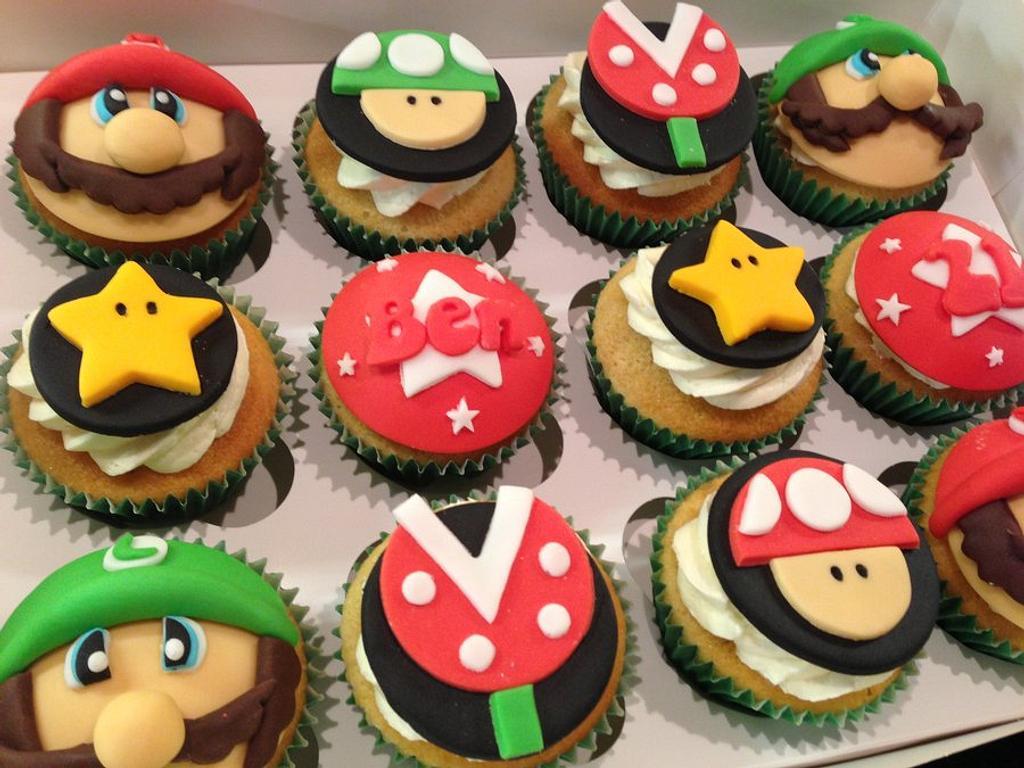 Mario & Luigi Cupcakes by Sweet Treats of Cheshire