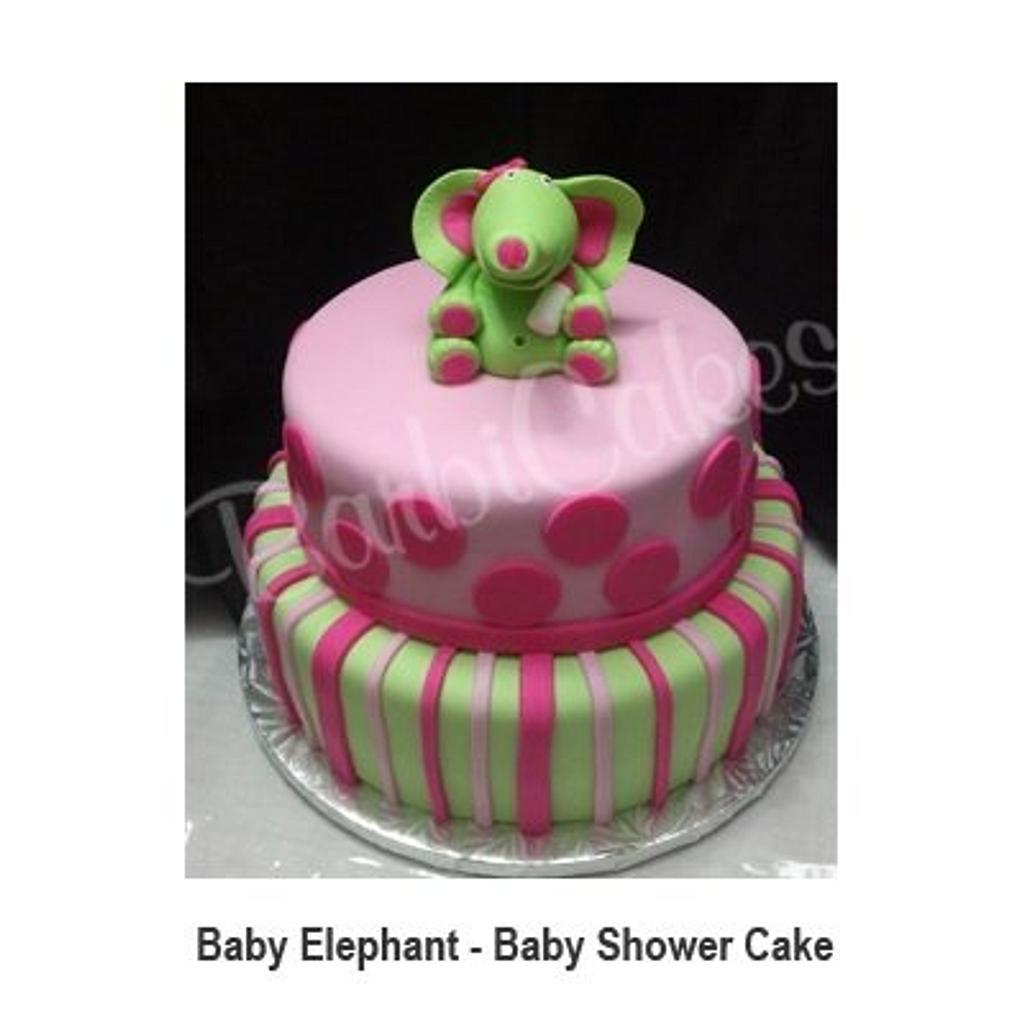 Baby Elephant Baby Shower Cake by Barbie
