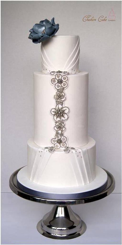 Jewelled wedding cake by The Cheshire Cake Company