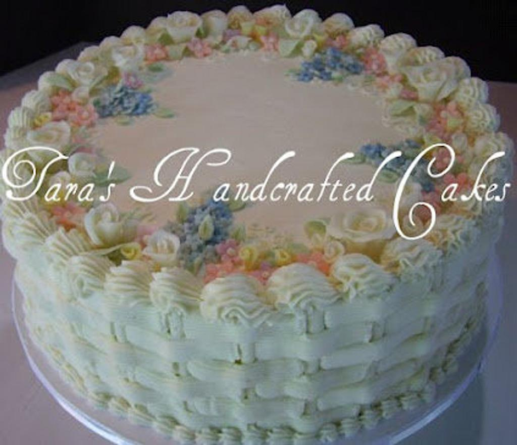 simple buttercream cake by Taras Handcrafted Cakes
