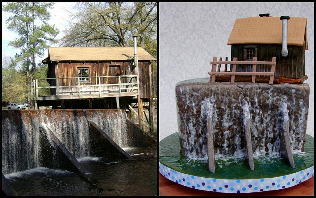 Historical Grist Mill & Waterfall by Cakes ROCK!!!