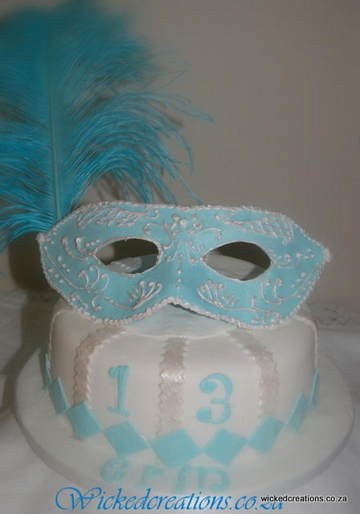 Mask Cake by Wicked Creations