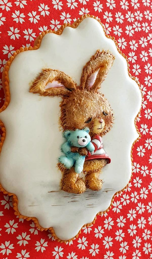 Not an usual Easter Bunny..... by The Cookie Lab  by Marta Torres