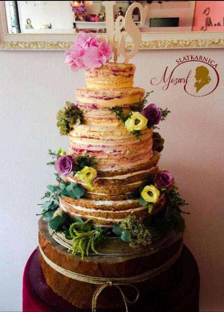 Naked birthday cake - cake by Mocart DH - CakesDecor
