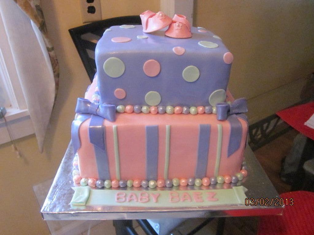 Baby shower cake by Paulina