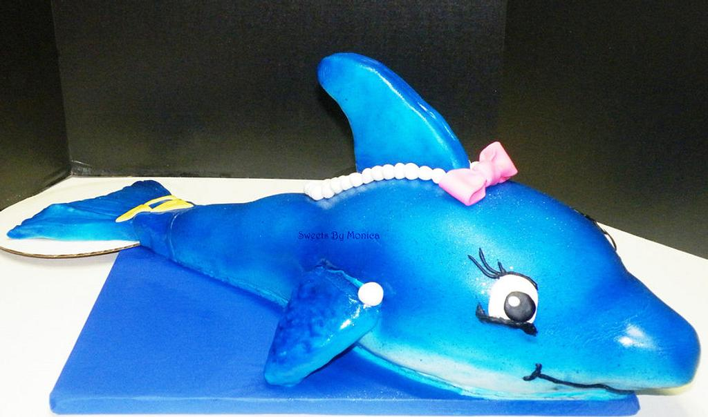 Tri-Delta Sorority Dolphin Birthday Cake by Sweets By Monica