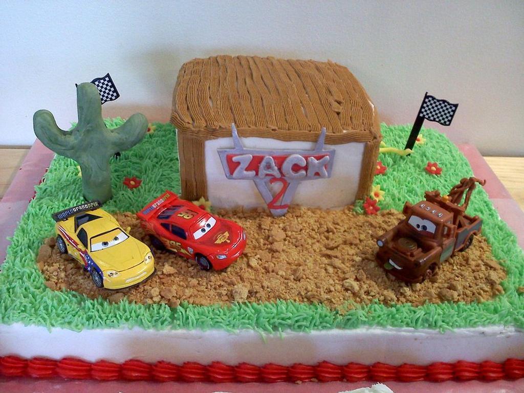 CARS cake by Kimberly