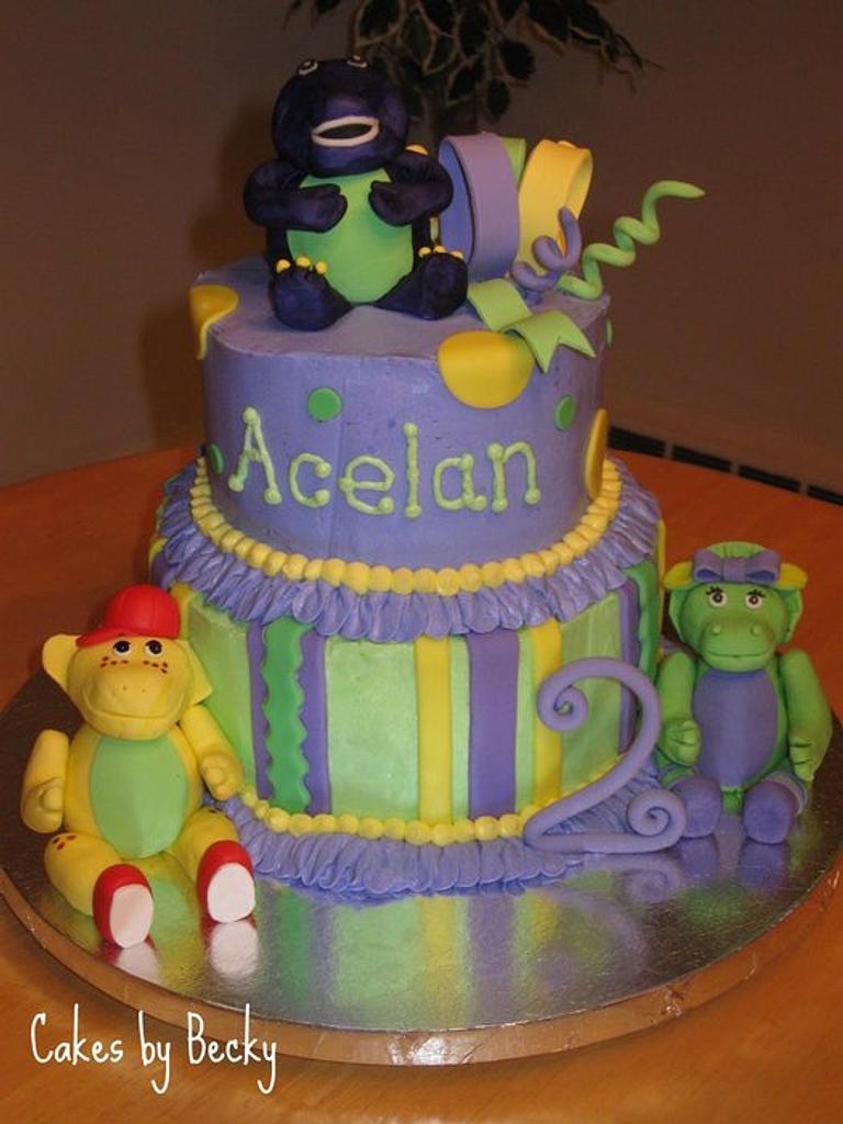 Barney Birthday Cake by Becky Pendergraft
