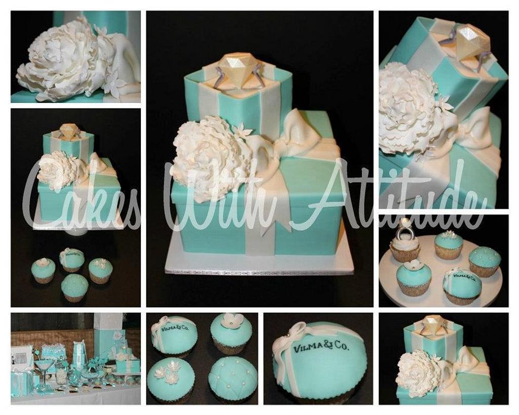 Breakfast at Tiffany's Themed Cake by Viviana & Guelcys
