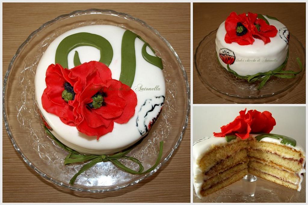 Poppies cake by Dolci Chicche di Antonella