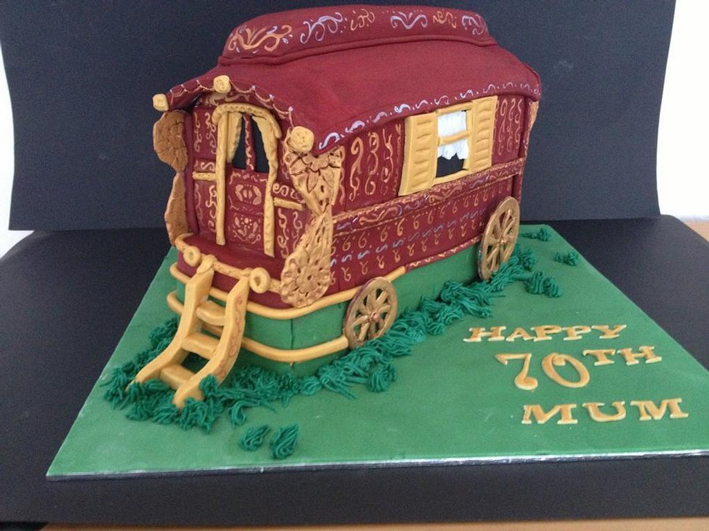 Romany gypsy wagon by Bubba's cakes