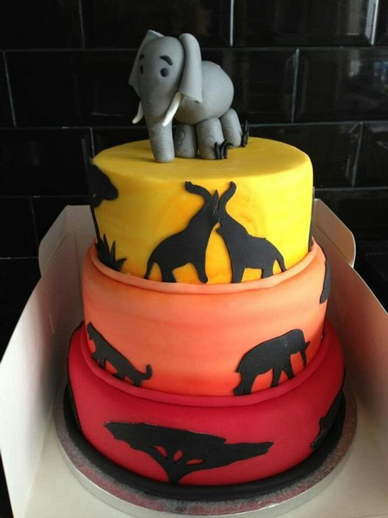"""Safari"" with an elephant topper x  by charmaine cameron"