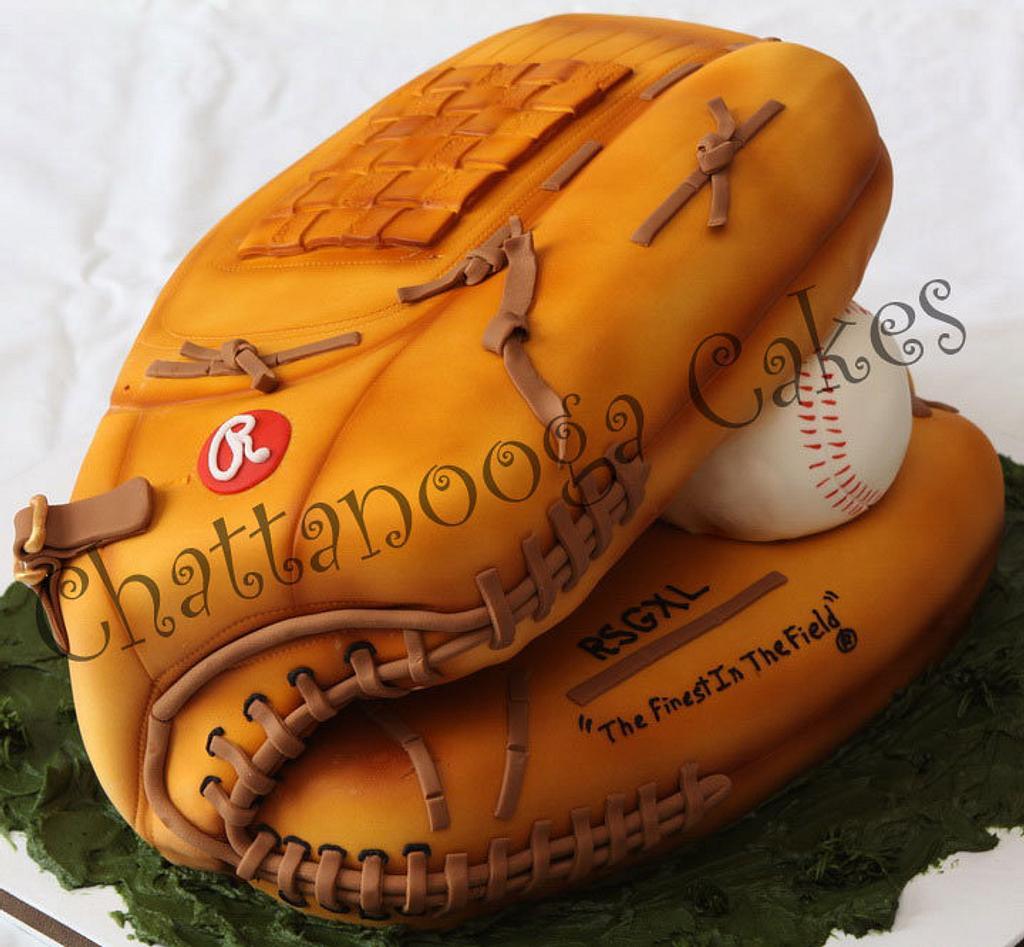 Baseball Glove Cake by Sandy Thompson