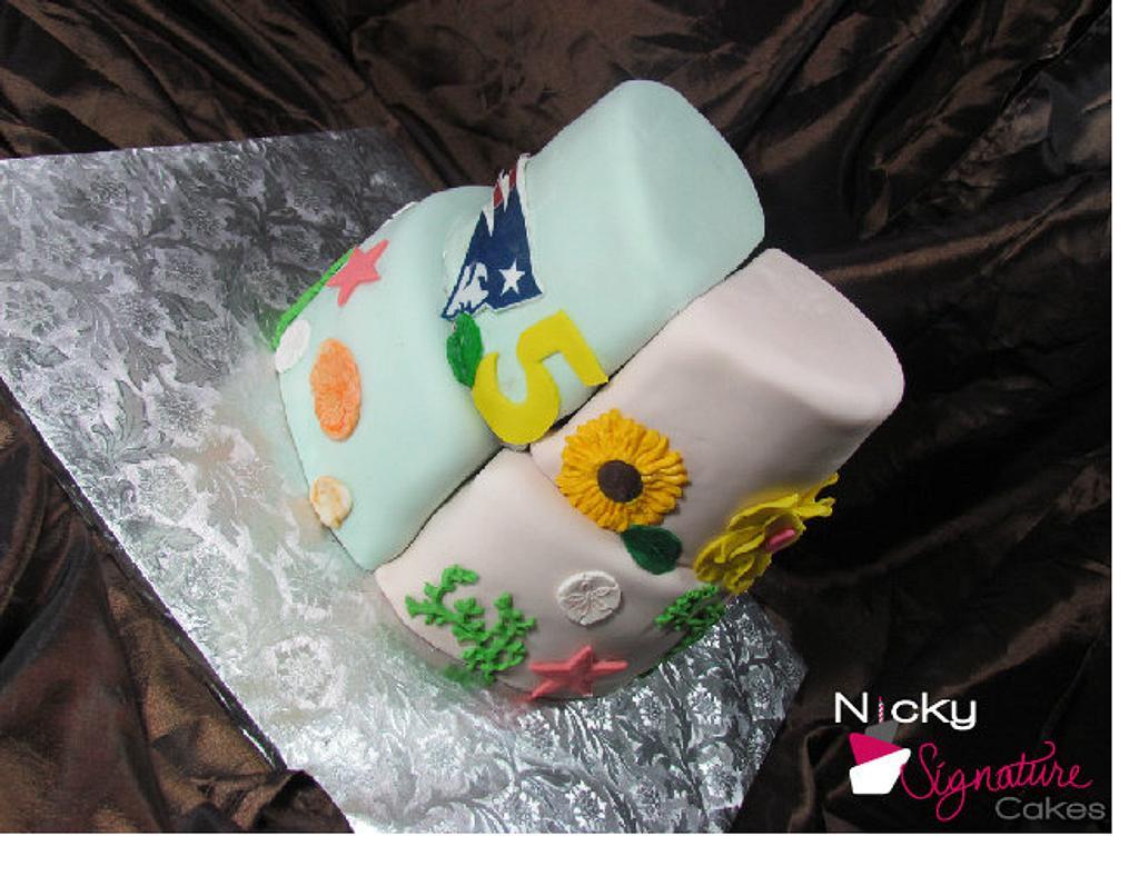 Twin Birthday by NickySignatureCakes