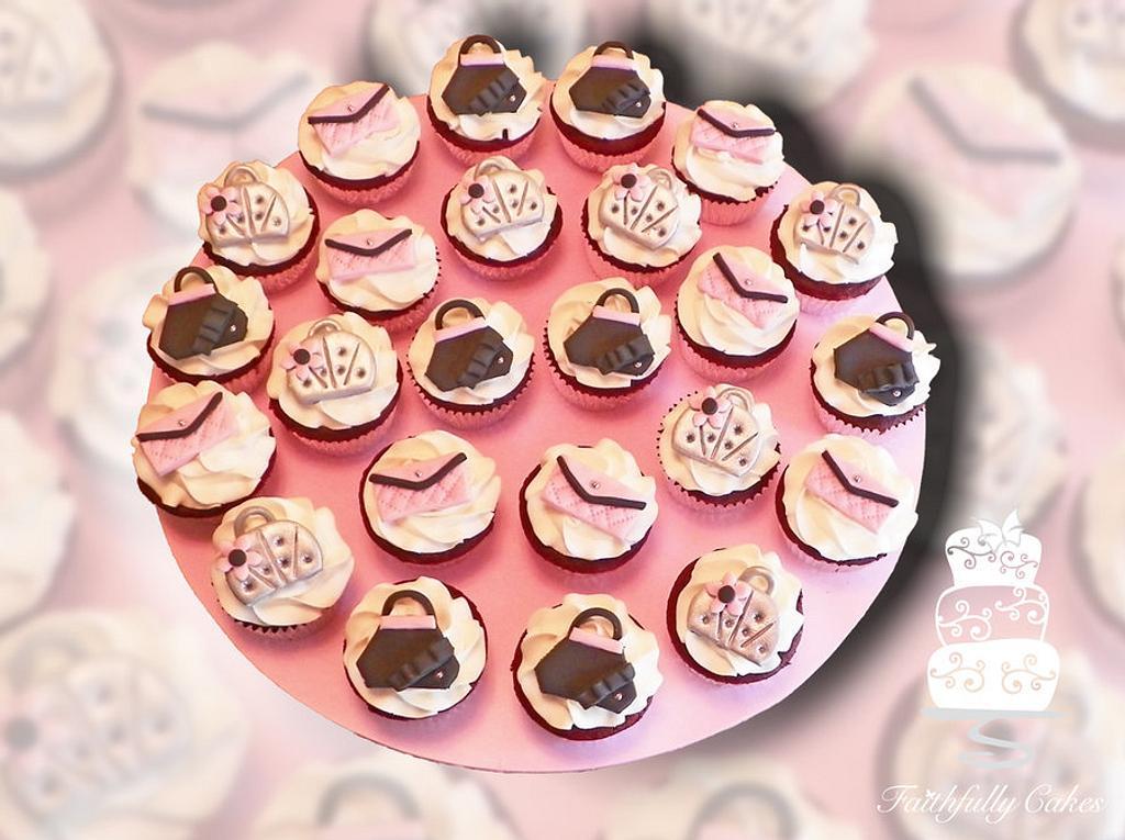 Purse Cupcakes by FaithfullyCakes