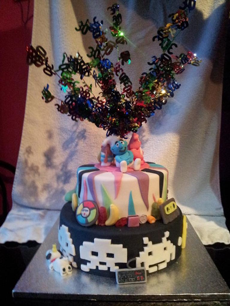 80s cake by buckiebakes