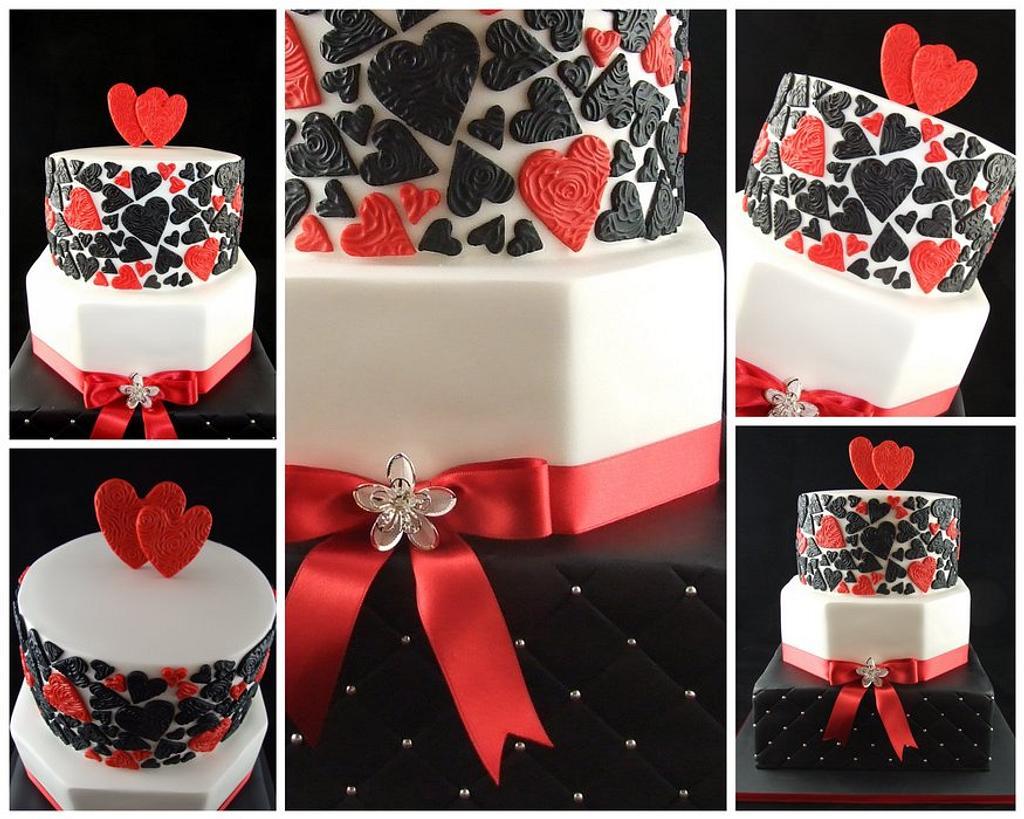 Striking Wedding Cake by Lisa-Jane Fudge