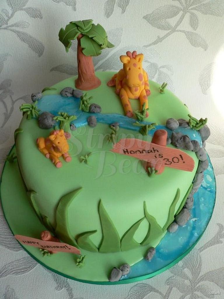 Hannah's giraffe cake by Jane Moreton