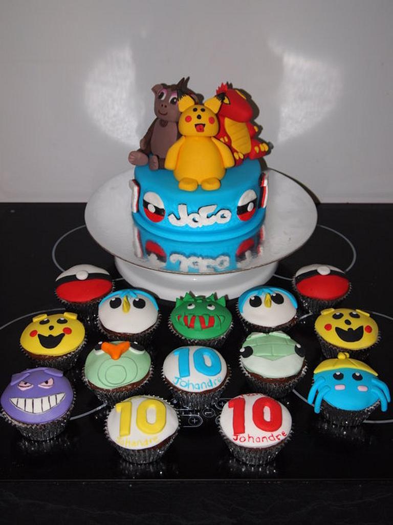 Pokemon cake/cupcakes by LCSCC