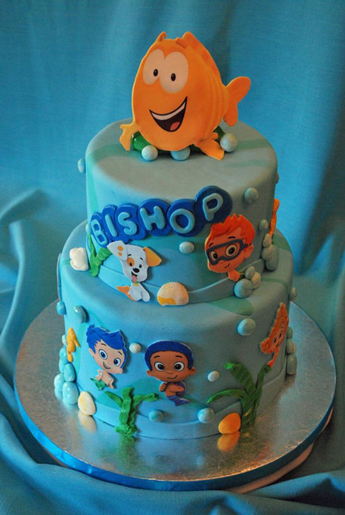 Bubble Guppies Cake by Karen