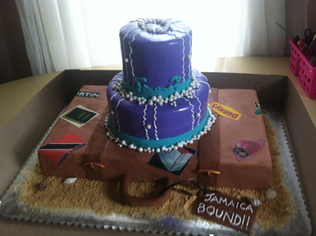 Bridal Shower Cake - Travel Theme by Michelle Allen