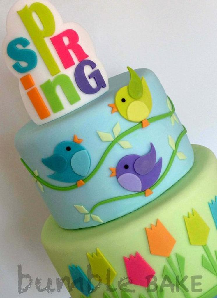 Spring Cake Detail by BumbleBake