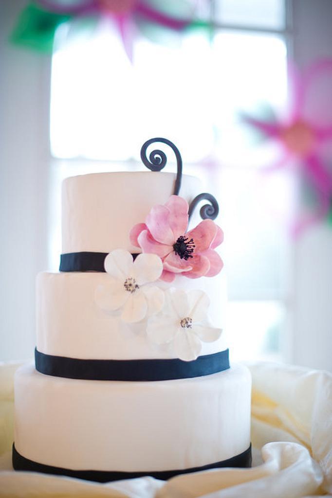 Black and pink wedding by Erin Gardner