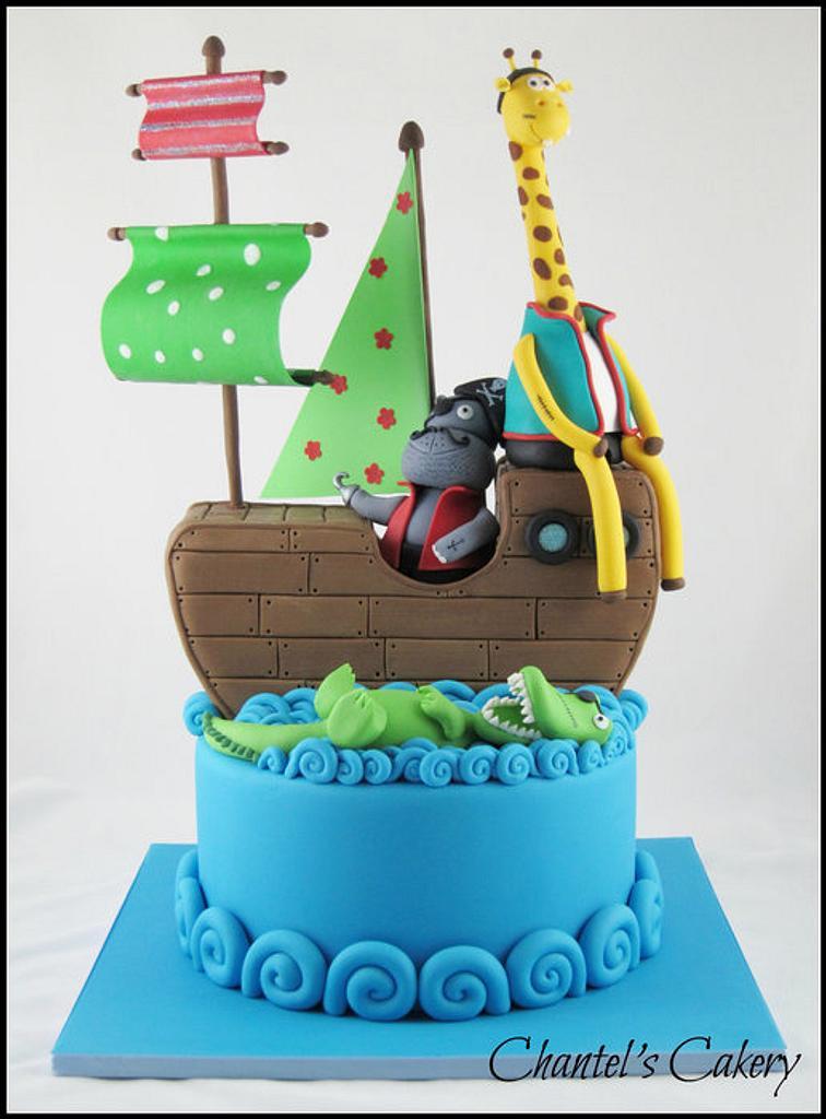 Animal Pirate ship by Chantel's Cakery