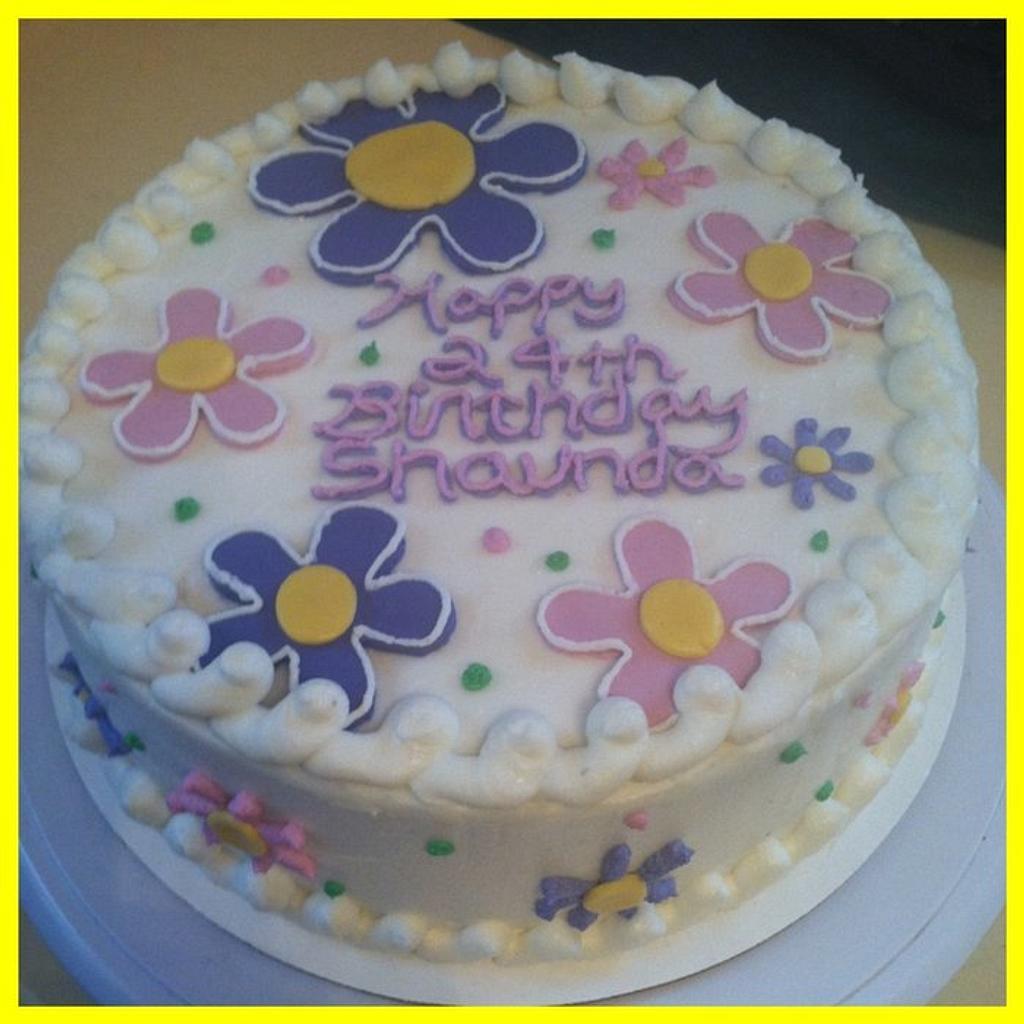 Flower Power Birthday Cake by Michelle Allen