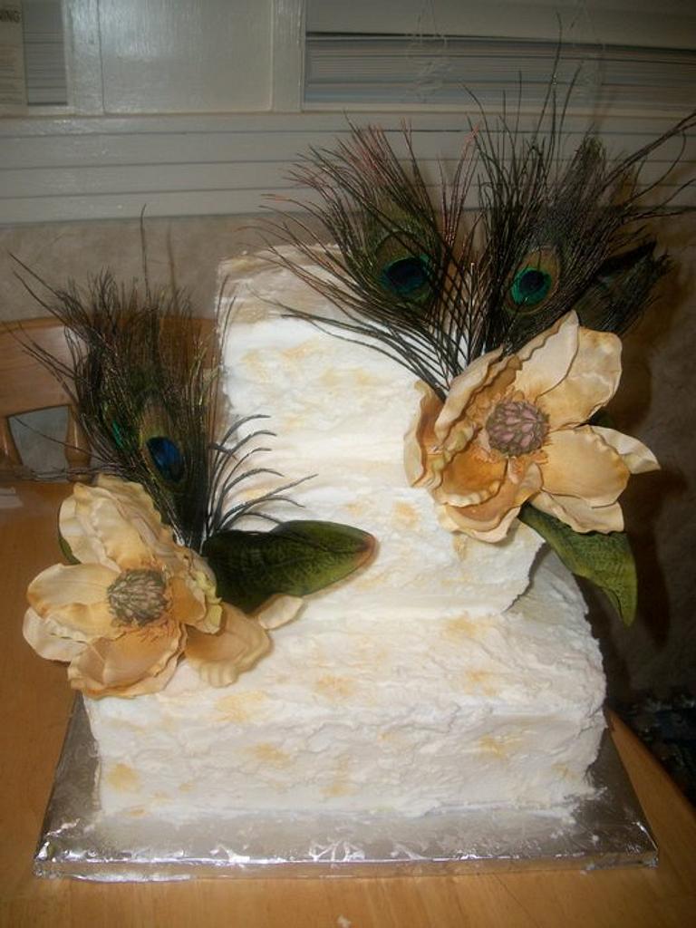 Peacock & Magnolia wedding by brandy818