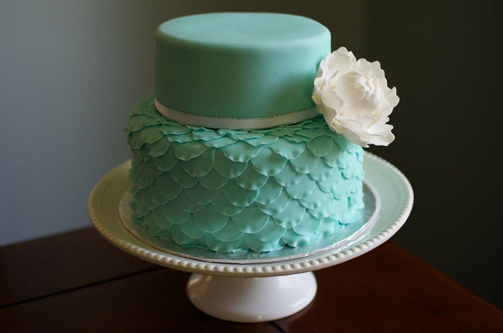 Ruffle peony cake by Hello, Sugar!