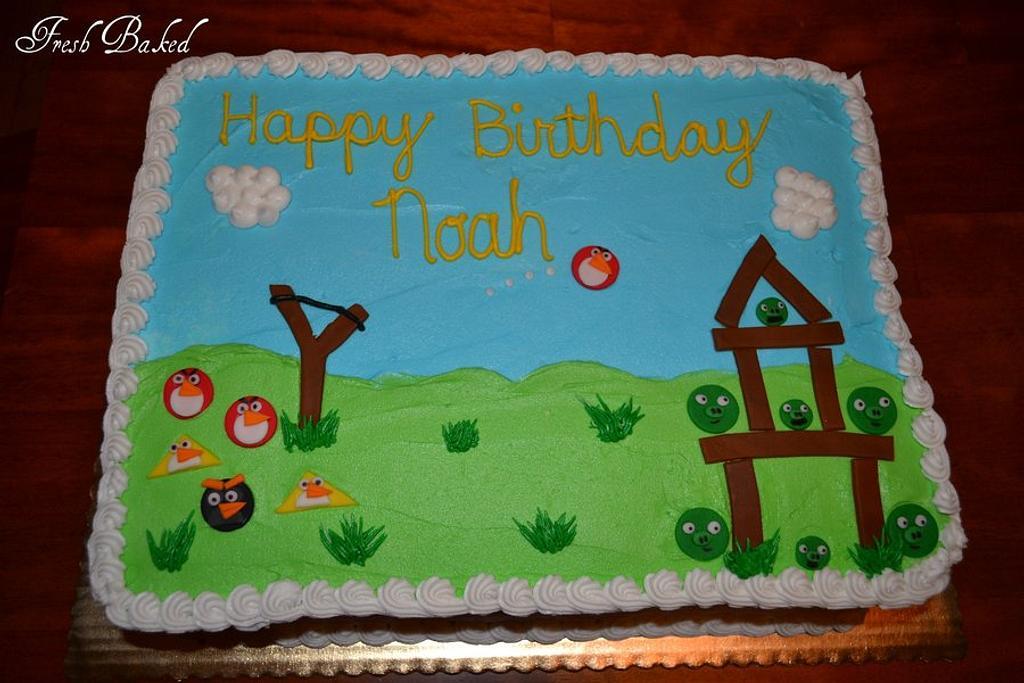 Angry Birds sheet cake by Jamie Dixon